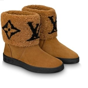 Authentic New Shearling Calf Leather Ankle Boot 40